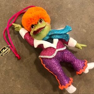 Cute disco frog ornament by Katherine's Collection
